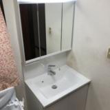 洗面化粧台交換工事 富山県富山市 GC-755EB-HW
