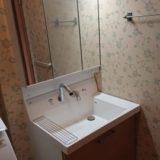 洗面化粧台交換工事 愛知県名古屋市港区 AR3FH-755SY-LP2H