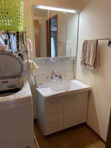 洗面化粧台交換工事 埼玉県さいたま市南区 AR3H-755SY-D-VP1H