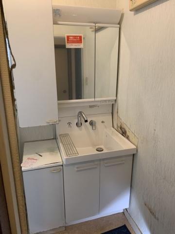 洗面化粧台 ガス給湯器交換工事 茨城県つくば市 GT-2460AWX-1-BL-set-13A