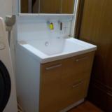 洗面化粧台交換工事 熊本県熊本市東区 LDSWB075BDGEN1-J