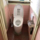 トイレ 洗面化粧台 交換工事 鹿児島県志布志市 CES9565FR-NW1