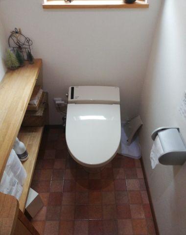 トイレ交換工事 静岡県浜松市浜北区 YBC-CL10S-DT-CL114A-N-BN8