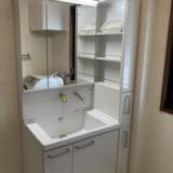 洗面化粧台交換工事 和歌山県和歌山市 LDSWB075CJGEN1-W